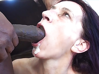 skinny mom gets fucked by a big black cock
