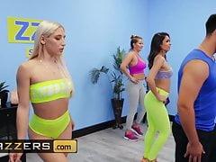 Gorgeous Babes Abella Danger and Katana Kombat dancing and fucking