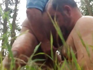daddy sucks in the woods