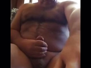 Married Daddy cumshot all over his body
