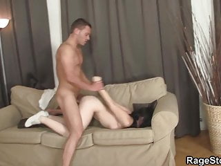 Slutty bitch takes brutal blowjob and...