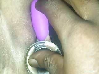 PLAYING WITH HER PHAT PUSSY
