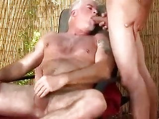 Grandpa Muscle Rides a Big Young Dick