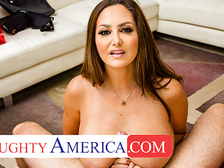 Lingerie Pov Brunette video: Naughty America - Ava Addams comes home with new Lingerie