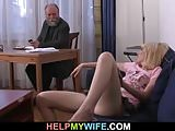He fucks young wife for money