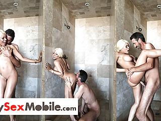 Luna star busty blond shower mysexmobile...