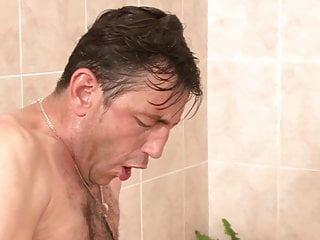 German Stepdad Persuades Furry Slit Daughter to Banged in Bathtub