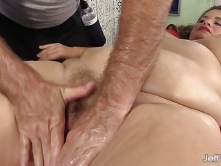 Orgasmic Massage for Hairy Plumper Hayley Jane