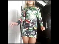 Turk Olgun Anne Turkish Cougar Dance Erotic Legs Nylon Socks