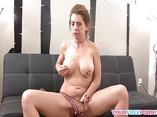 Amateur milf toying her tight pussy in high...