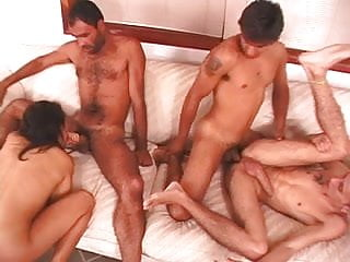 Bisexual Foursome - 3 guys and 1 girl