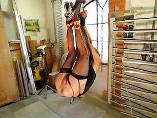 by suspended sissy slut and master fisted