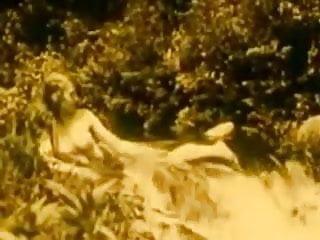 Vintage Erotic Movie 7 - Nude Girl at Waterfall 1920