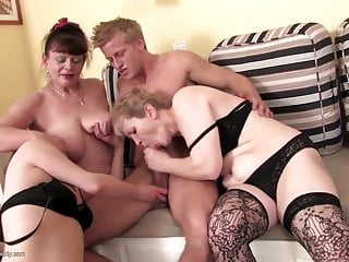 Moms and grannies fucked by young lucky boy