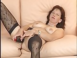 german brunette vibrating