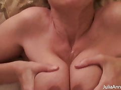 Beautiful Boobjob By Big Boobed Julia Ann, Busting Big Balls!