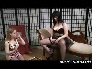 Lezdom Strapon In Stockings