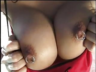 Busty pierced asian milf sex outside...