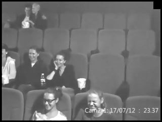 Hot teen bitch provides a public bj at a cinema