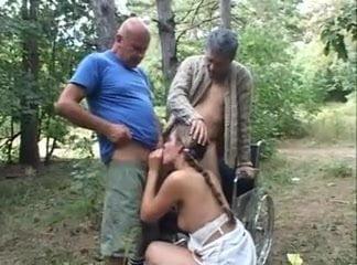 Teen sucking cock public