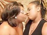 Ebony BBW lesbian makeout