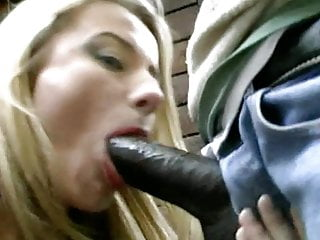 MILF blonde Italian fucks African
