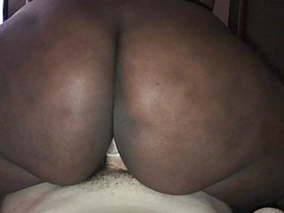 Huge chocolate booty takes white dick...
