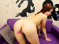 young redhead girl with big boobs and pussy