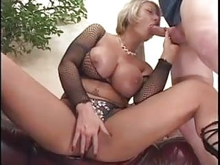 Blonde fucks a younger man...