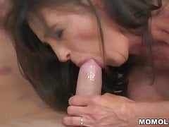 Older Woman Wildly Riding A Dick