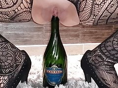 bottle of Champagne insertion