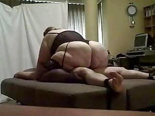 huge bbw riding her tied up man