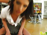Tamed Teens Tall slender Queenie has daily requirement of