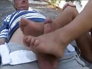 Driveway Footjob