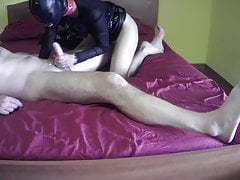 Laura on Heels – passionate blowjob and sucking until he cums