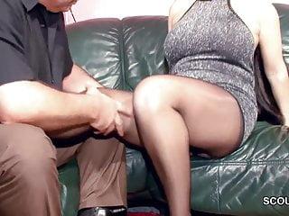 Hairy german milf in nylon gets and cum...