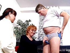 Real German old Couple Has First Threesome Sex with Mature