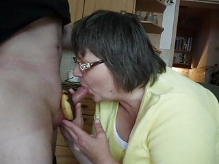 nina blows the cock with donutPorn Videos