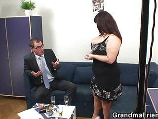 Busty granma cocks after photosession...