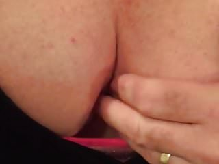 Playing with my tits and clit