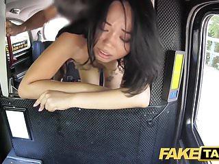 Pretend Taxi Pretty Thai girl with pierced vagina lips