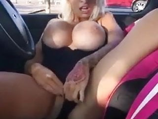 British Milf Slut video: UK Chav Milf Slut Fingering In Car Park Public