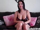 Cuckold slave submit to me and my man