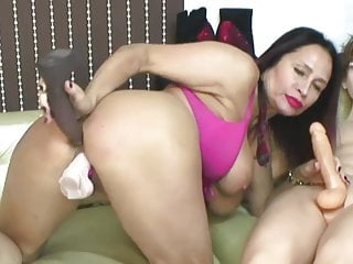 MILF With Huge Melons Drill Her Holes And Ride A Doll