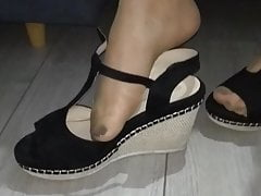 A beautiful Polish woman shows her sexy feet