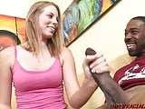 Young babe takes 2 BBC home for threeway