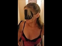 Interracial Blowjob by a 40 Year Hot Old Blonde MILF