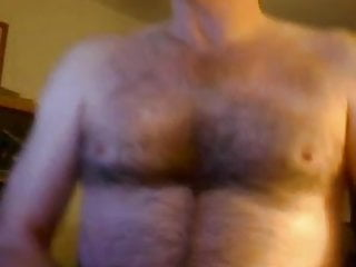 Horny hairy dad dick large balls...