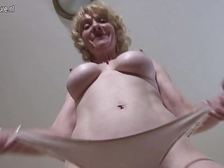 Granny showing off her old but still hot body