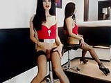 Gorgeous colombian TS horny as hell